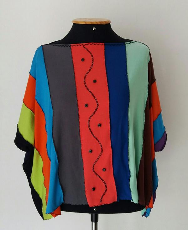 blusa de retalho de malha