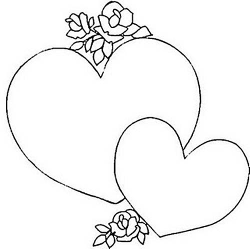 molde de coração grande e pequeno