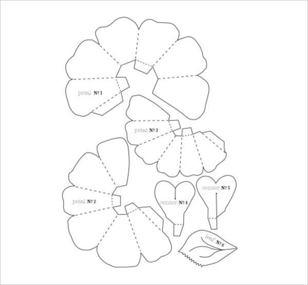 molde flor papel