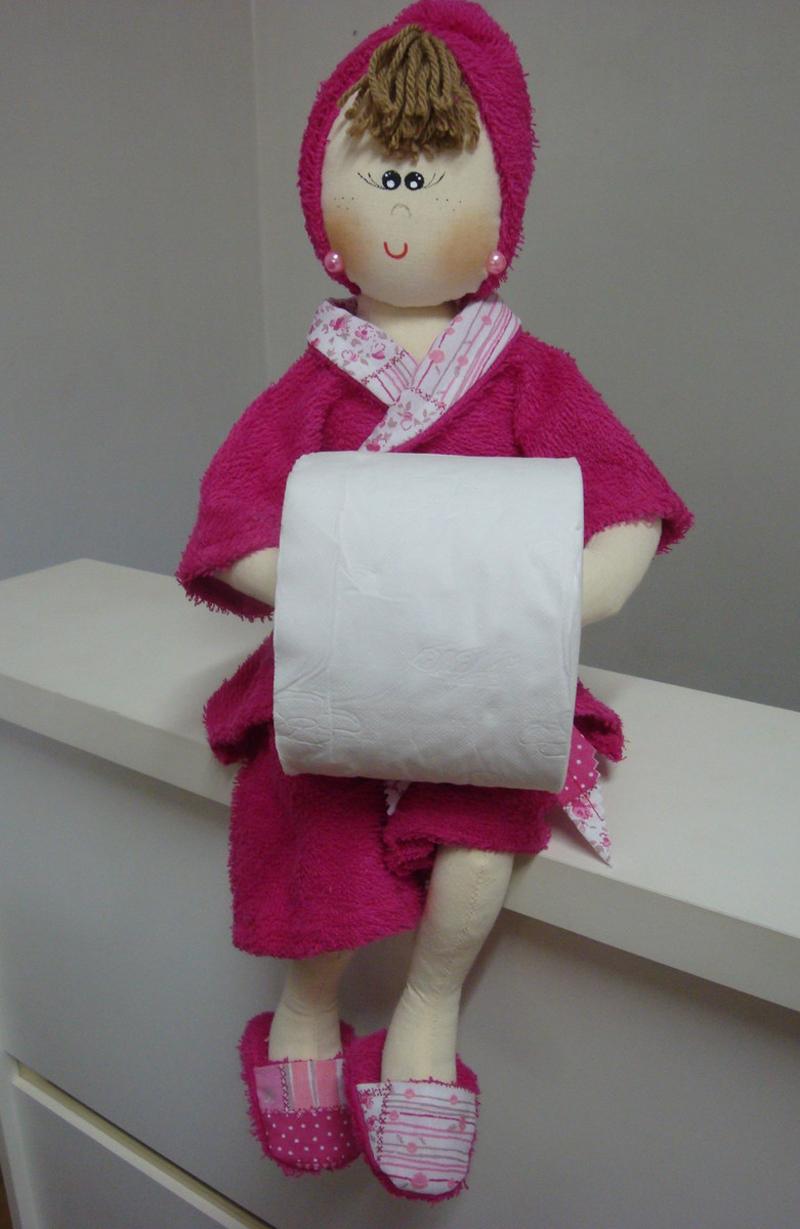 porta papel higienico de fofucha