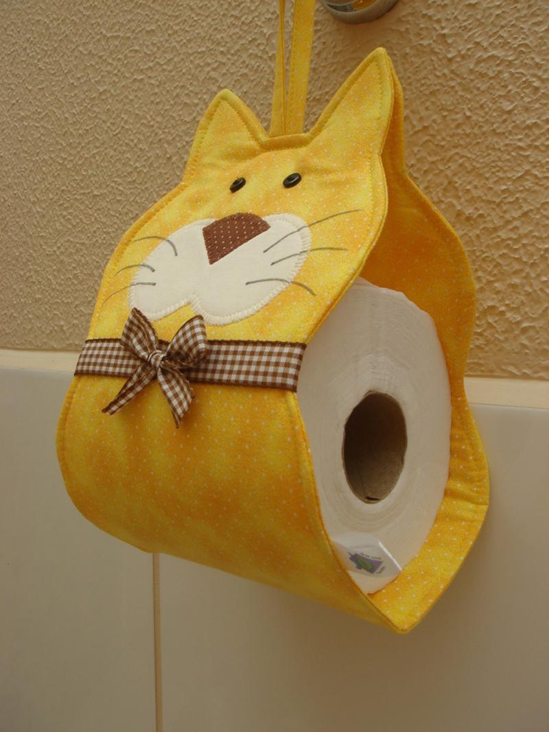 porta papel higienico de gatinho