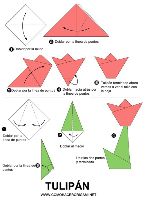 origami flor