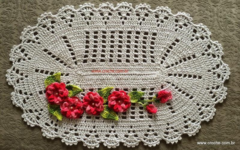 flor de croche para tapete