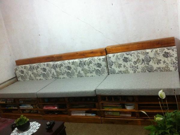 sofa de pallet simples