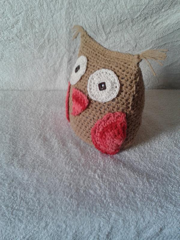 coruja de croche pequena