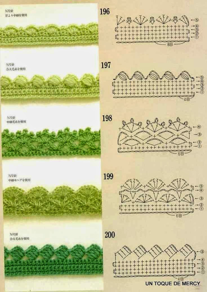 biquinhos de croche verde