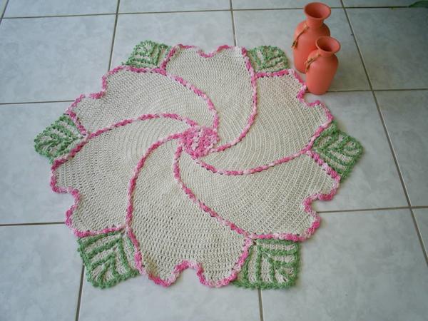 tapete croche espiral
