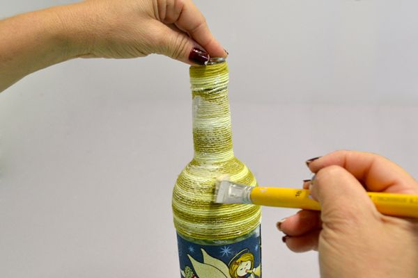 tutorial de garrafa natalina