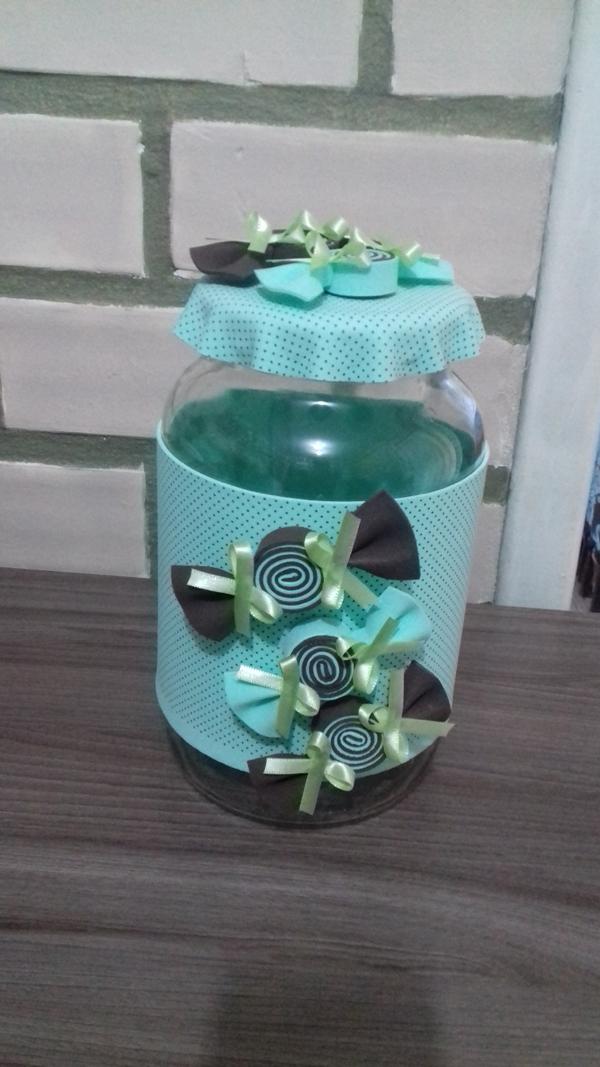 artesanato para cozinha pote decorado