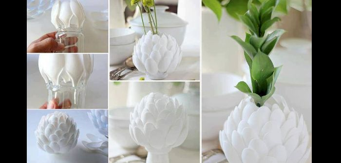 vaso artesanal com pote