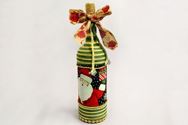 garrafa natalina tutorial