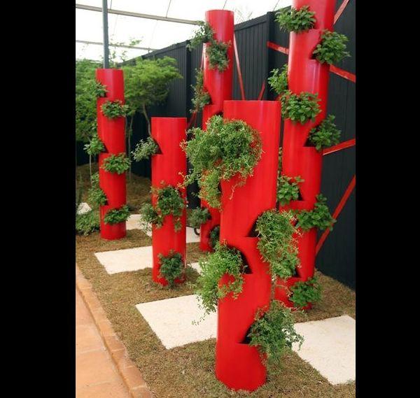 jardim vertical com cano pvc