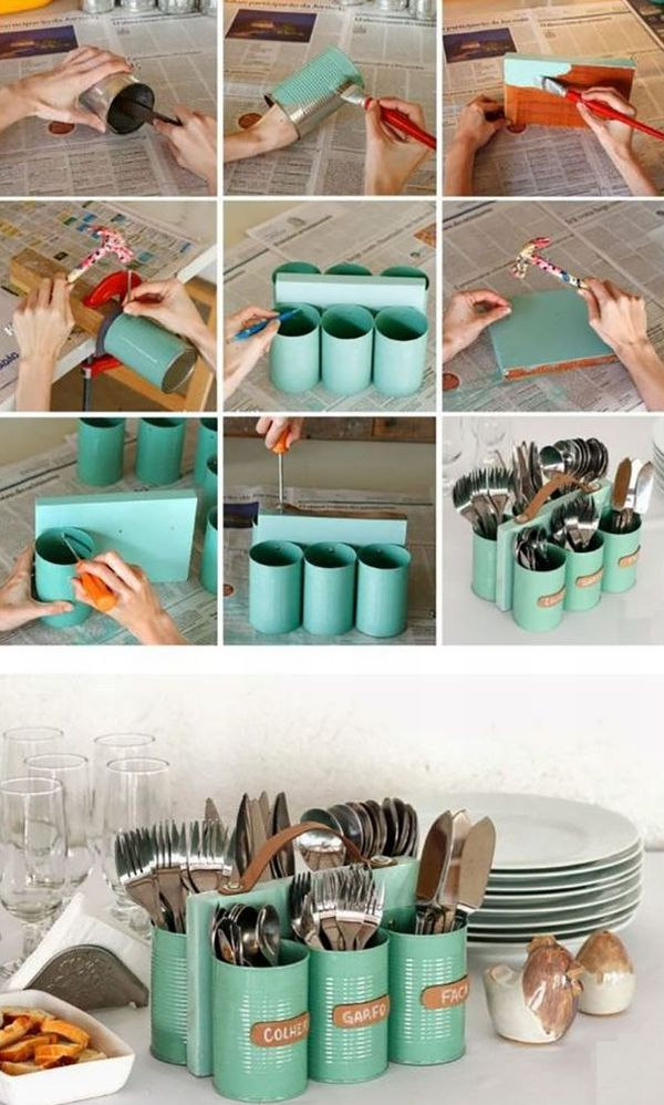 artesanato para cozinha porta talheres
