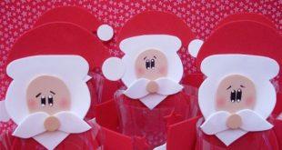 Lembrancinhas de Natal com Garrafa PET e EVA: 15 Ideias