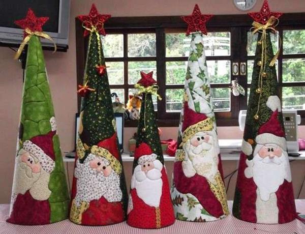 arte para natal 2017 papai noel na arvore