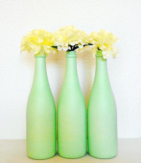 garrafa de vidro verde