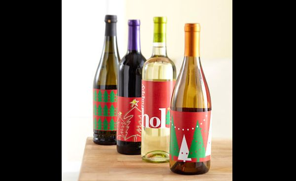 garrafas natalinas etiqueta