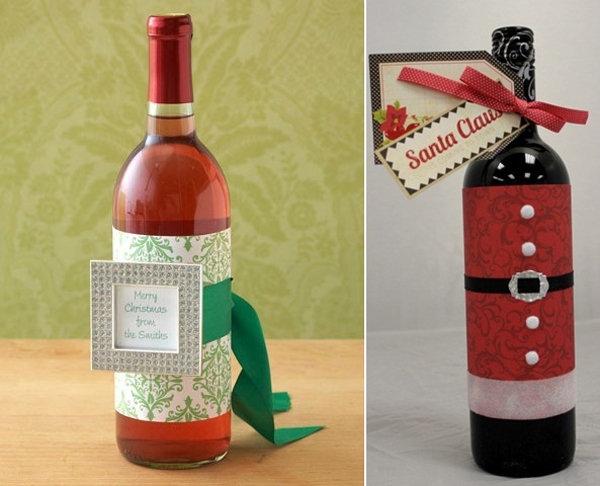 garrafas natalinas de vidro