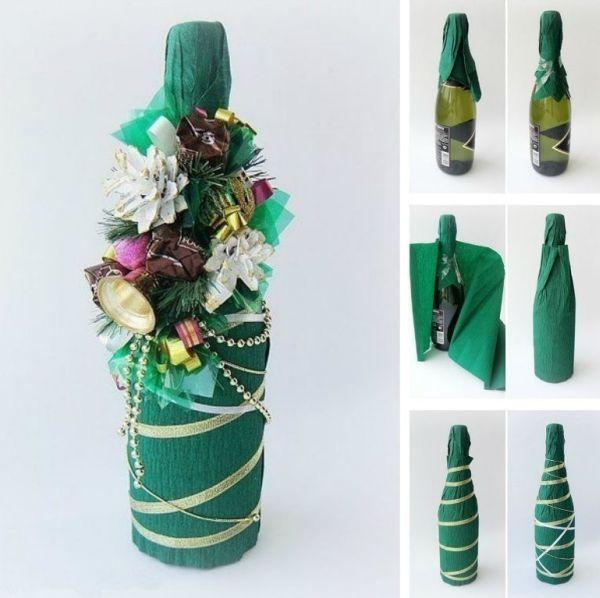 garrafas natalinas sino
