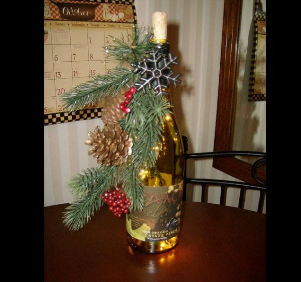 garrafas natalinas galhos