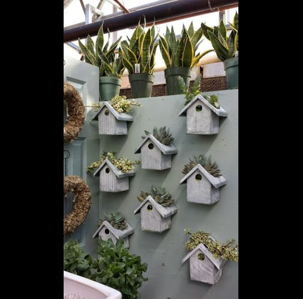 jardim vertical com casinhas