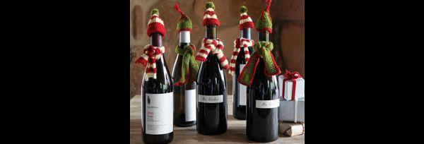 garrafas natalinas gorro