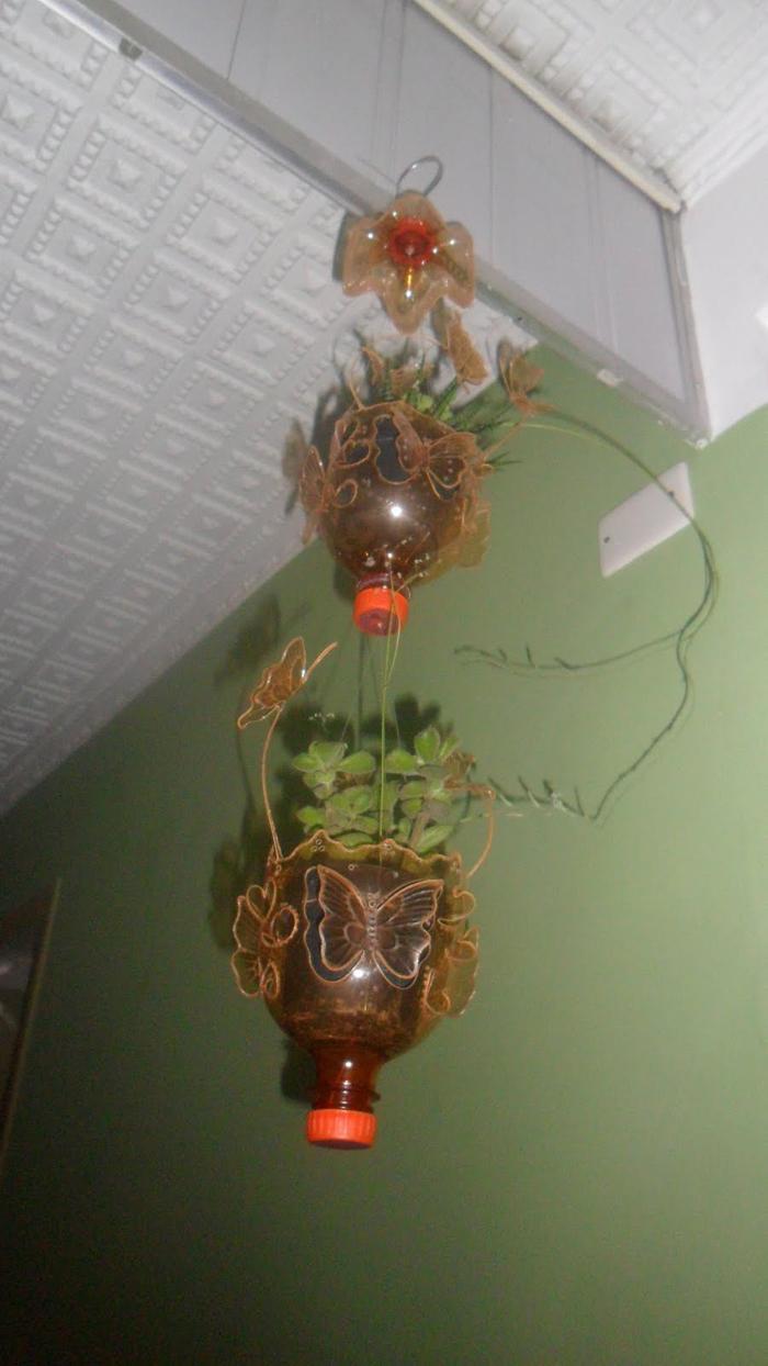 vaso artesanal de pet