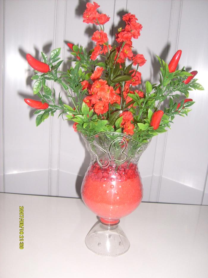 vaso artesanal colorido