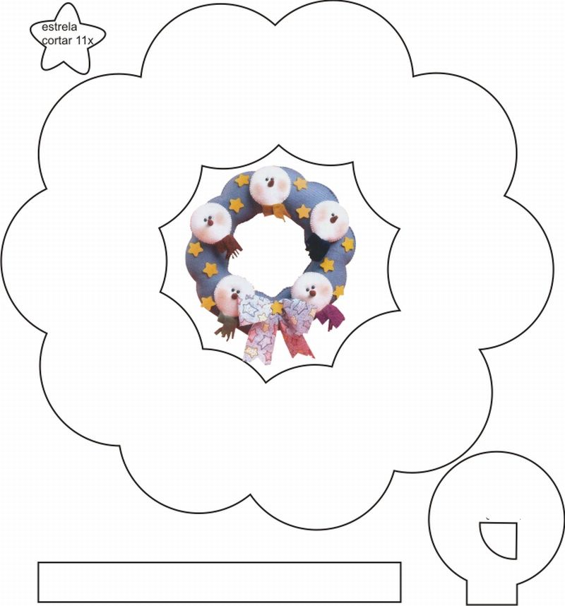 guirlanda de eva de natal boneco neve