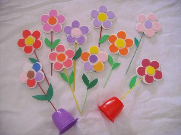 flor em EVA improvisada