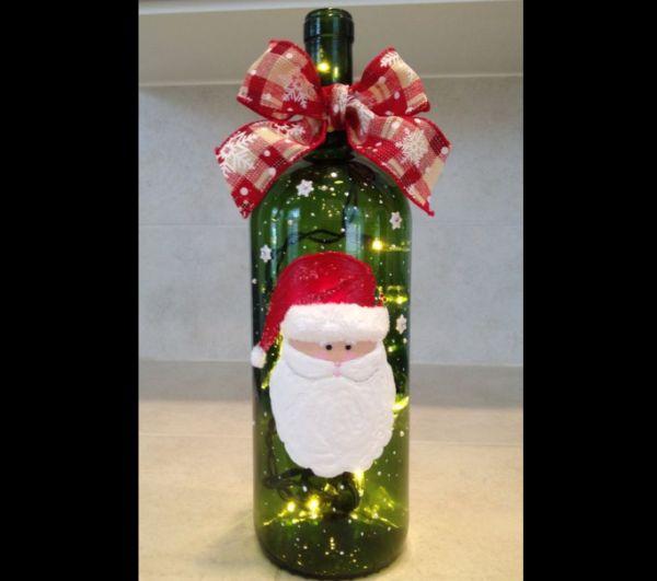 enfeites natalinos garrafa noel