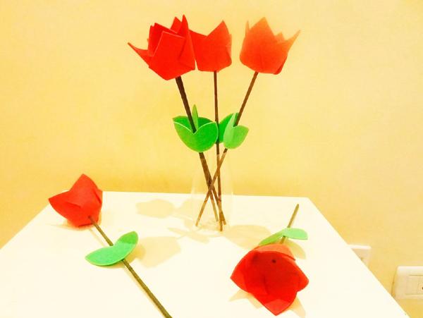 flor em EVA porta bombom