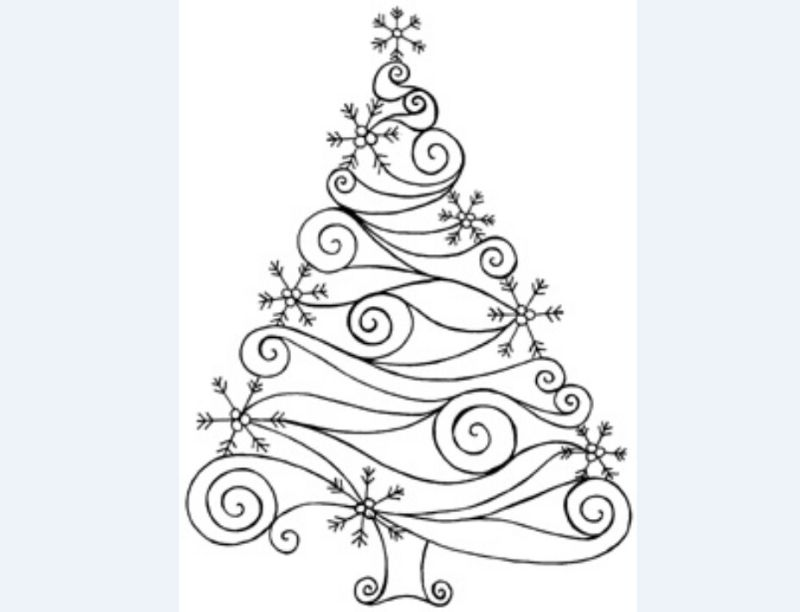 desenho natalino arvore