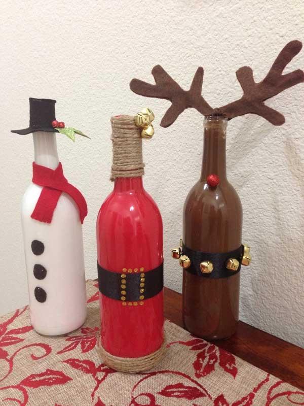 enfeites natalinos garrafas