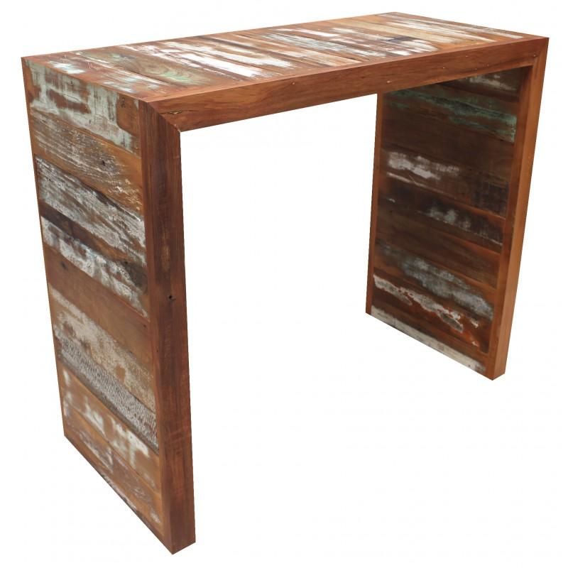 Artesanato com madeira de demolição balcao