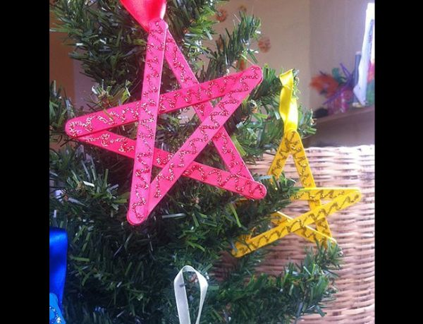enfeites natalinos estrela
