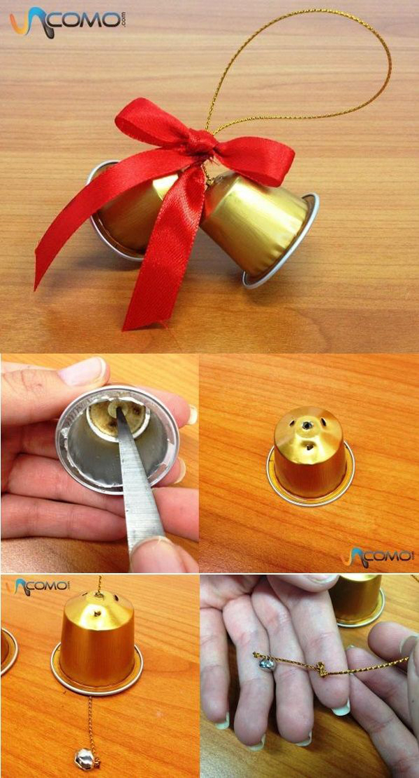 enfeites natalinos com capsulas