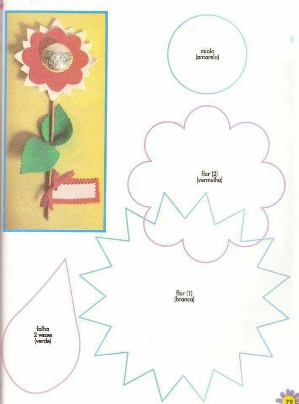 flor em EVA com bombom