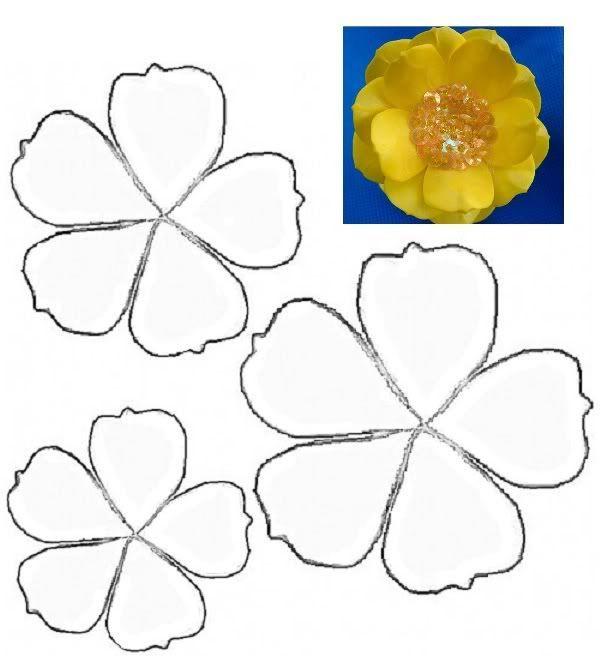 flor em EVA amarela