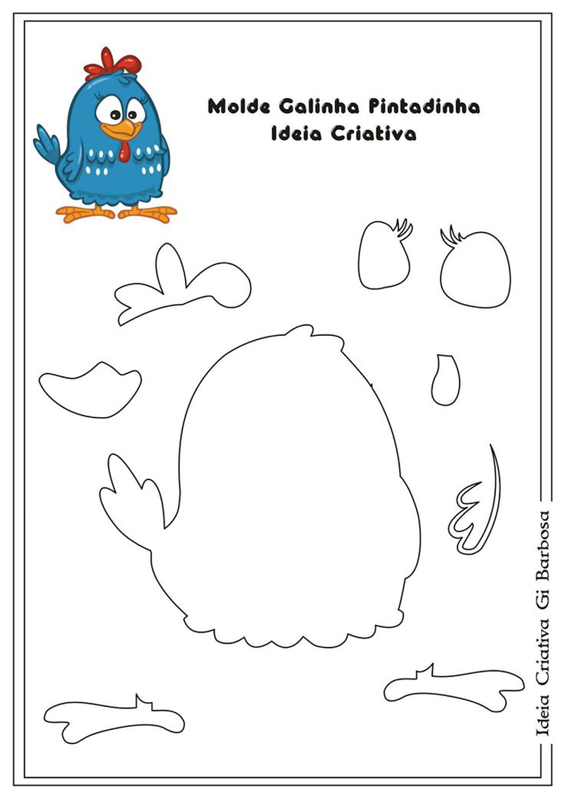 bichinhos de EVA fazendinha galinha pintadinha