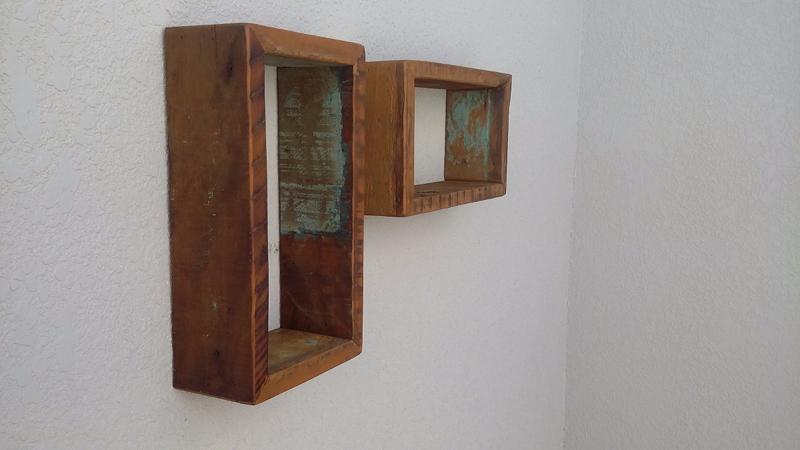 Artesanato com madeira de demolição nichos
