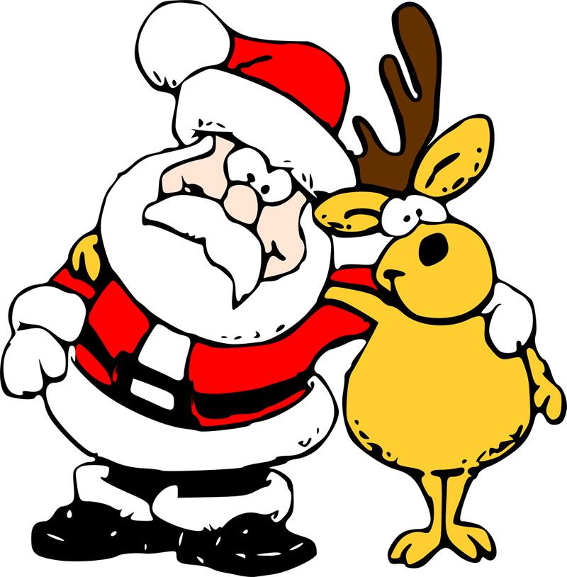 desenho natalino noel e rena