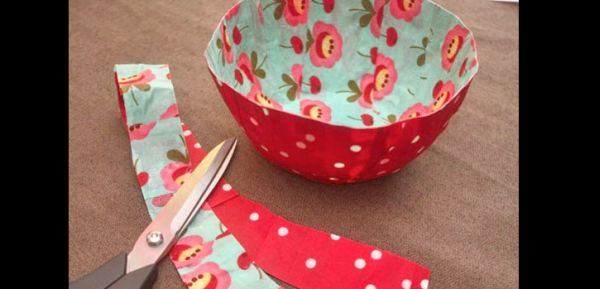 artesanato em tecido tigela