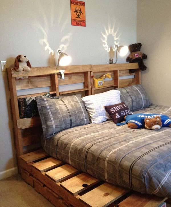 decor com pallets cama