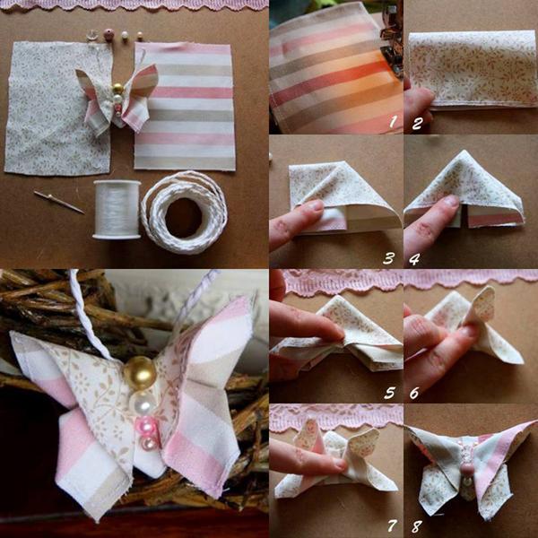 artesanato em tecido borboleta