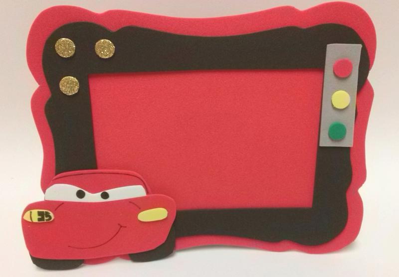 porta retrato em eva carro
