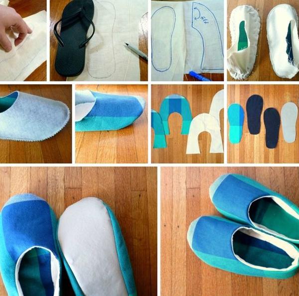 artesanato em tecido sapatilha