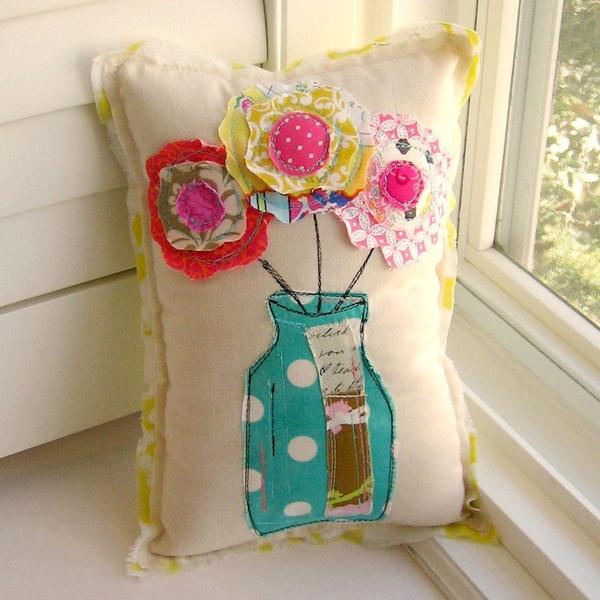 artesanato em tecido almofada