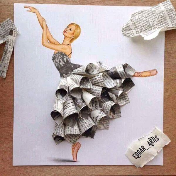 artesanato de jornal arte