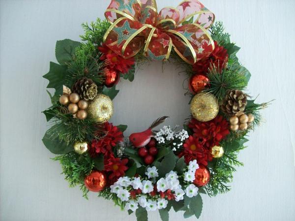 guirlanda de Natal com flores